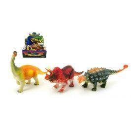 Teddies Dinosaurus plast 18cm asst 12ks v boxu