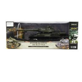 Teddies Tank RC plast 33cm T34 27MHz na baterie+dobíjecí pack se zvukem a světlem v krab