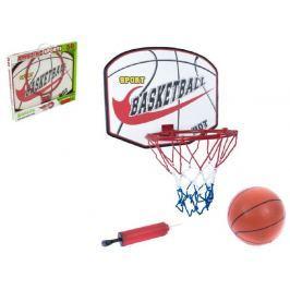Teddies Basketbalový koš + míč s pumpičkou 48,5x39,5x37cm