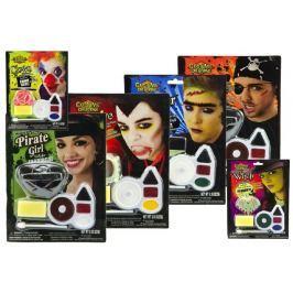Teddies Barvy obličejové s doplňky asst 6 druhů na kartě 16x21cm karneval