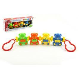 Teddies Baby řetěz medvídci plast v krabici 33x12x5cm