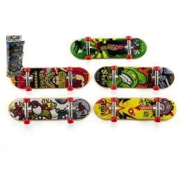 Teddies Skateboard prstový plast 10cm asst 5ks v krabičce