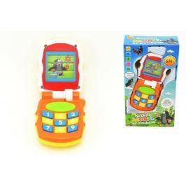 Teddies Krtkův mobil telefon měnící obrázky Krtek plast se světlem a se zvukem v krabičc