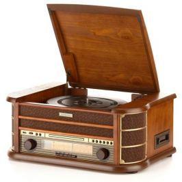 Hyundai Gramofon s CD  RTCC 513 RIP O RETRO, FM, ořech