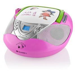 GoGEN Radiopřijímač s CD  MAXI RADIO P, CD/MP3/USB, růžový