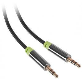 GoGEN Kabel  Jack 3,5mm, 1,5m, pozlacené konektory - černý