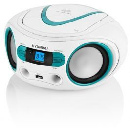Hyundai Radiopřijímač  TRC 533 AU3WBL s CD/MP3/USB, bílá/modrá