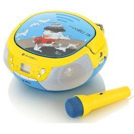 GoGEN Radiopřijímač  MAXIPREHRAVAC B s CD/MP3/USB, modrá/žlutá