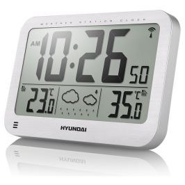 Hyundai Meteostanice  WS 2331, velké hodiny, stříbrná