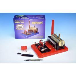 Merkur Toys Stavebnice MERKUR funkční model parního stroje Standart v krabici