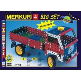 Merkur Toys Stavebnice MERKUR 4 40 modelů 602ks 2 vrstvy v krabici 36x26,5x5,5cm
