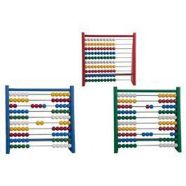 Detoa Počítadlo 100 kuliček 3 barvy dřevo/kov/plast 24x24cm v sáčku