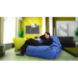 BeanBag Sedací pytel 189x140 comfort s popruhy dark blue, Dark blue, 189x140