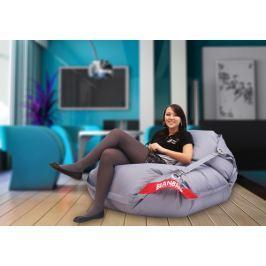 BeanBag Sedací pytel 189x140 comfort s popruhy gray, gray, 189x140