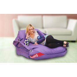 BeanBag Vlastnosti:  Sedací pytel 189x140 comfort s popruhy violet, violet, 189x140