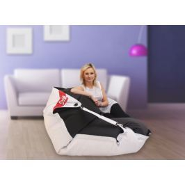 BeanBag Parametry:  189x140 duo white - black