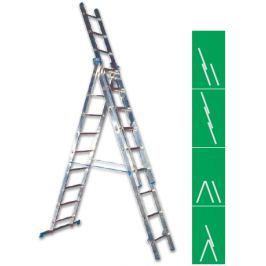 Žebřík Al 3x10  2,86m 6,26m 4,35m ALVE