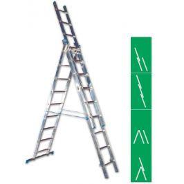 Žebřík Al 3x12  3,42m 7,96m 5,41m ALVE