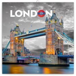 Kalendář poznámkový 2019 - Londýn, 30 x 30 cm