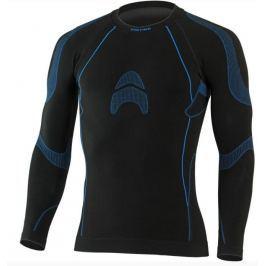 Lasting Pánské bezešvé tričko  ALTIN, XXS / XS, Černá/modrá