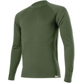 Lasting Pánské zesílené vlěné triko  Wity, L, Tmavě zelená