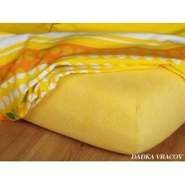 Dadka Froté prostěradlo - tmavě žlutá B, Tmavě žlutá, 200x220x15