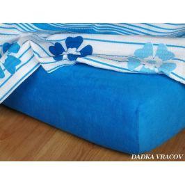 Dadka Froté prostěradlo - modř královská C, královská modř, 140x200x15 cm