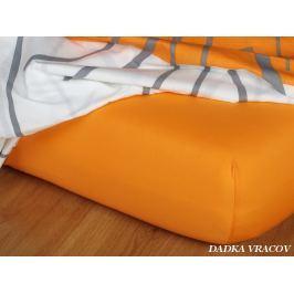 Dadka Jersey prostěradlo - pomeranč B, pomeranč, 160x220x18 cm