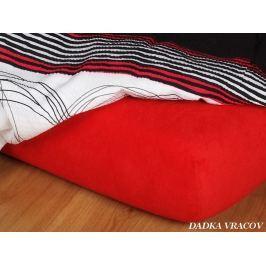 Dadka Jersey prostěradlo - červená C, Červená, 80x220x18 cm