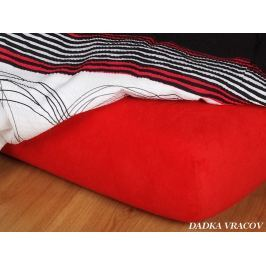 Dadka Jersey prostěradlo - červená C, Červená, 160x220x18 cm