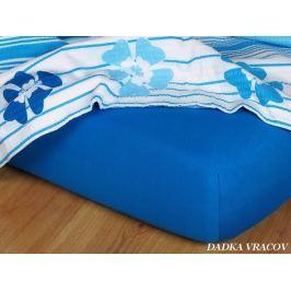 Dadka Jersey prostěradlo - modř královská C, královská modř, 200x220x18 cm