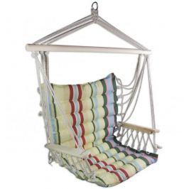Sedco Závěsné houpací křeslo  COLOR STRIP s opěrkami, barevná