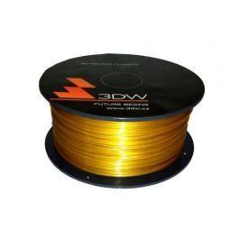 3DW ABS struna 1,75 mm pro 3D tiskárnu, 1kg, zlatá
