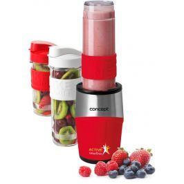 CONCEPT SM3386 smoothie maker  Active Smoothie 500 W červená 2 x 570 ml + 400 ml