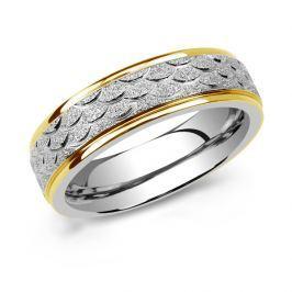 L´AMOUR snubní prsten pro muže a ženy z chirurgické oceli, obvod 63 mm