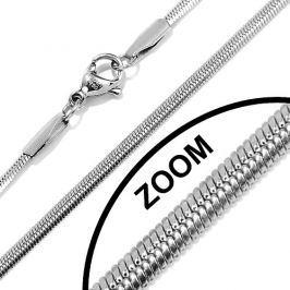 Ocelový řetízek plochý hádek 2,5mm, 40cm