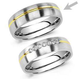 Snubní ocelový prsten pro muže PARIS, obvod 59 mm