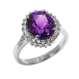 Luxusní prsten z bílého zlata MADELEINE, obvod 54 mm