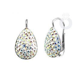 Silvego stříbrné náušnice se Swarovski(R) Crystals aurora borealis