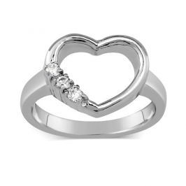 WEST SIDE ocelový prsten srdce, obvod 48 mm