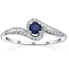 Silvego Stříbrný prsten se safírem Idonea FNJR016sa, 63 mm