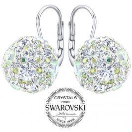 Silvego stříbrné náušnice kuličky 13 mm se Swarovski(R) Crystals čiré