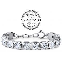 Silvego náramek BROOKLYN z chirurgické oceli se Swarovski(R) Crystals