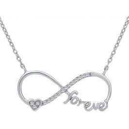 Silvego Stříbrný náhrdelník s přívěskem INFINITY forever