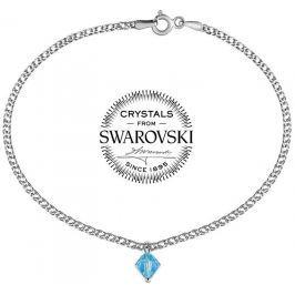 Silvego stříbrný náramek se Swarovski(R) Crystal 6 mm