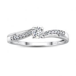 Zlatý zásnubní prsten CASABLANCA s diamanty, obvod 55 mm