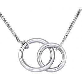 Silvego Stříbrný náhrdelník TOGETHER FOREVER spojené dva kruhy