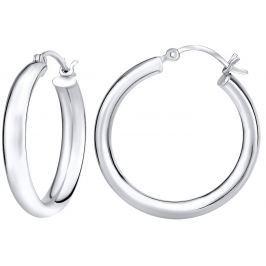 Silvego Stříbrné náušnice kruhy 3 cm x 5 mm