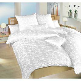 Dadka Povlečení damašek Bohema - Jiřiny bílé, Jiřiny bílé, 140x220 cm povlak