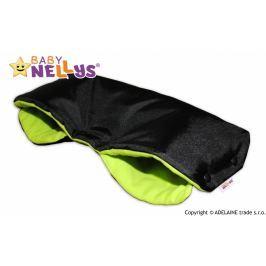 Baby Nellys Rukávník ke kočárku  ® flees - černý/zelená